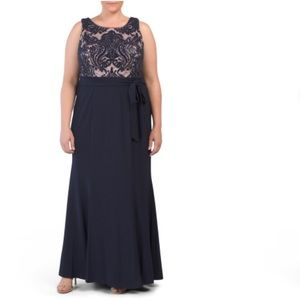 R&M Richards plus size gown
